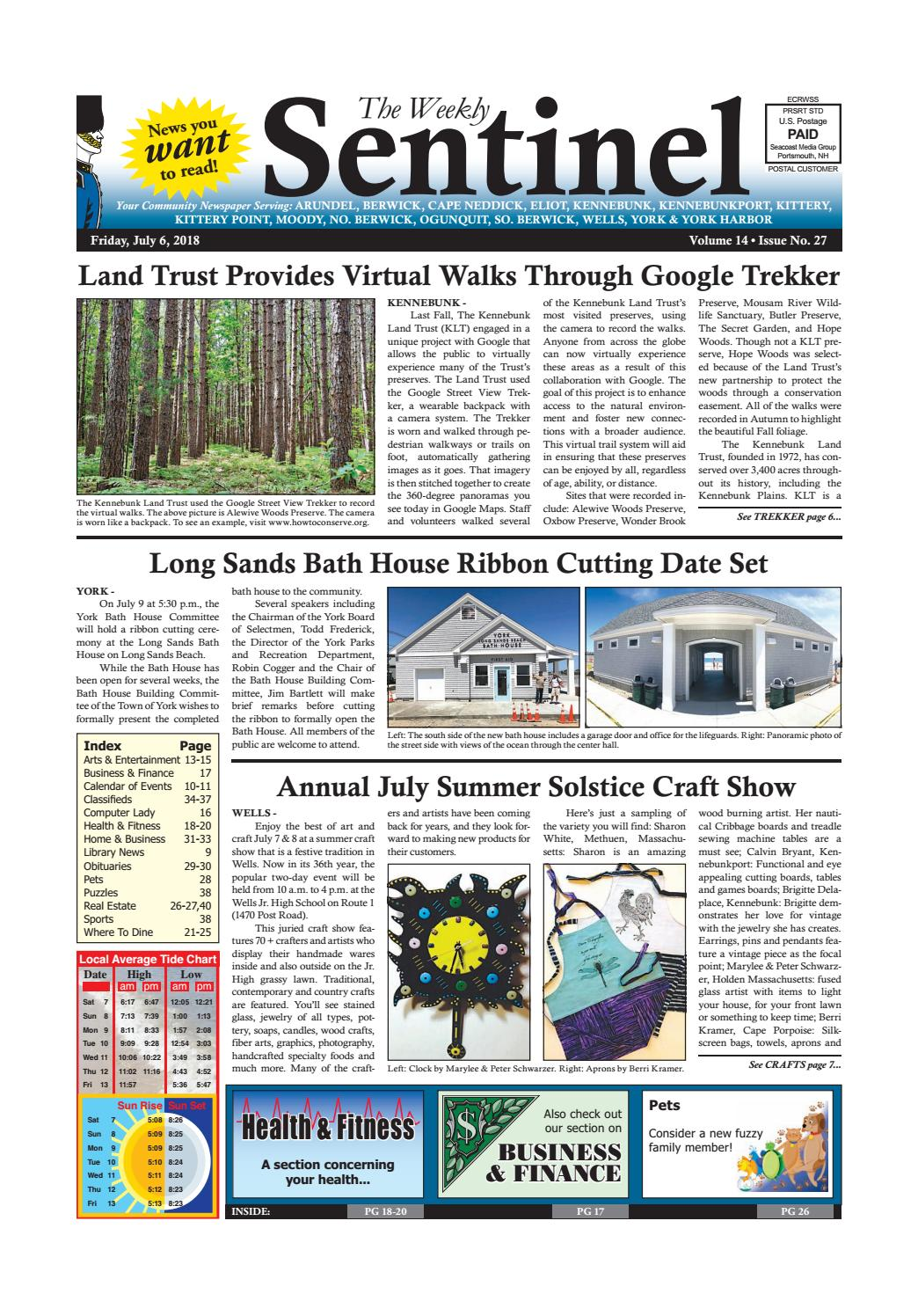 WS July 6, 2018 by Weekly Sentinel - issuu