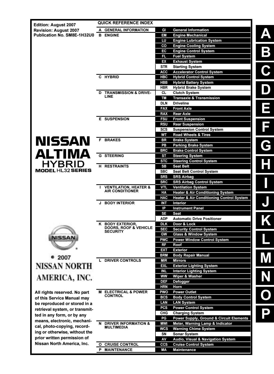 Nissan Rogue Service Manual: SRS air bag warning lamp does not turn on