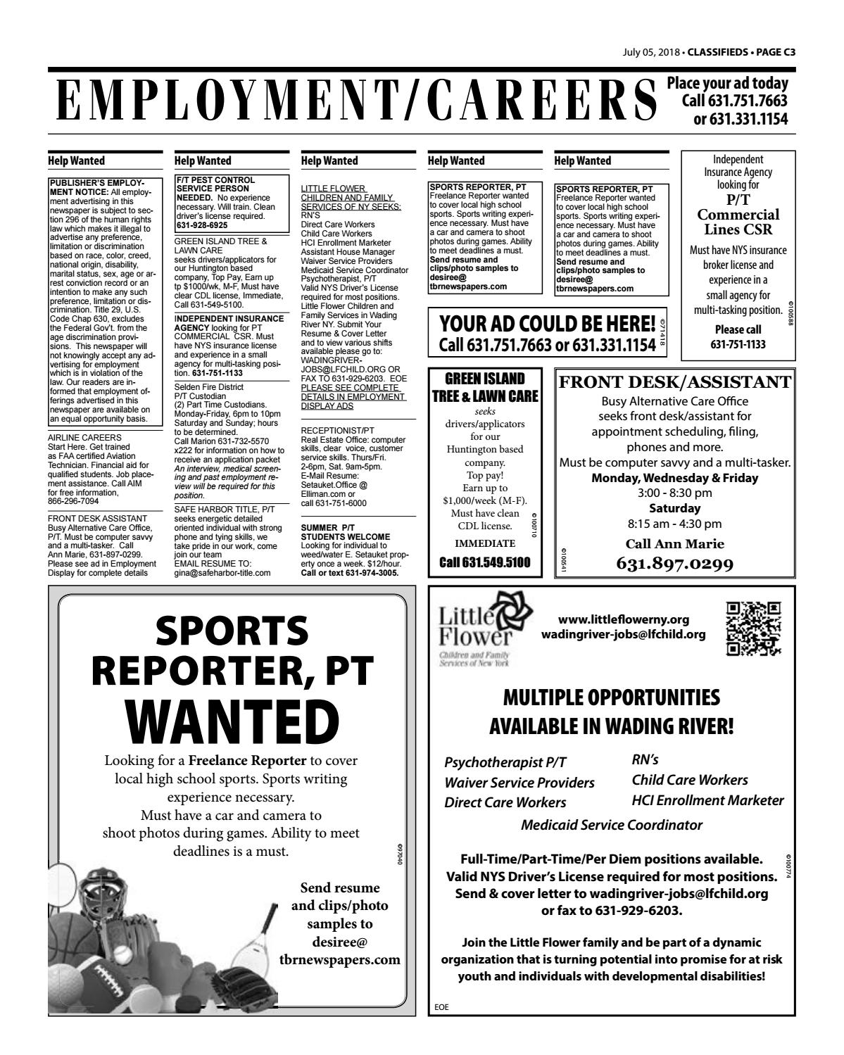 Employment/Careers - July 5, 2018 by TBR News Media - issuu
