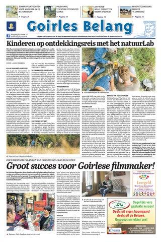 0a0312ed5c0ea6 Goirles Belang 04-07-2018 by Uitgeverij Em de Jong - issuu