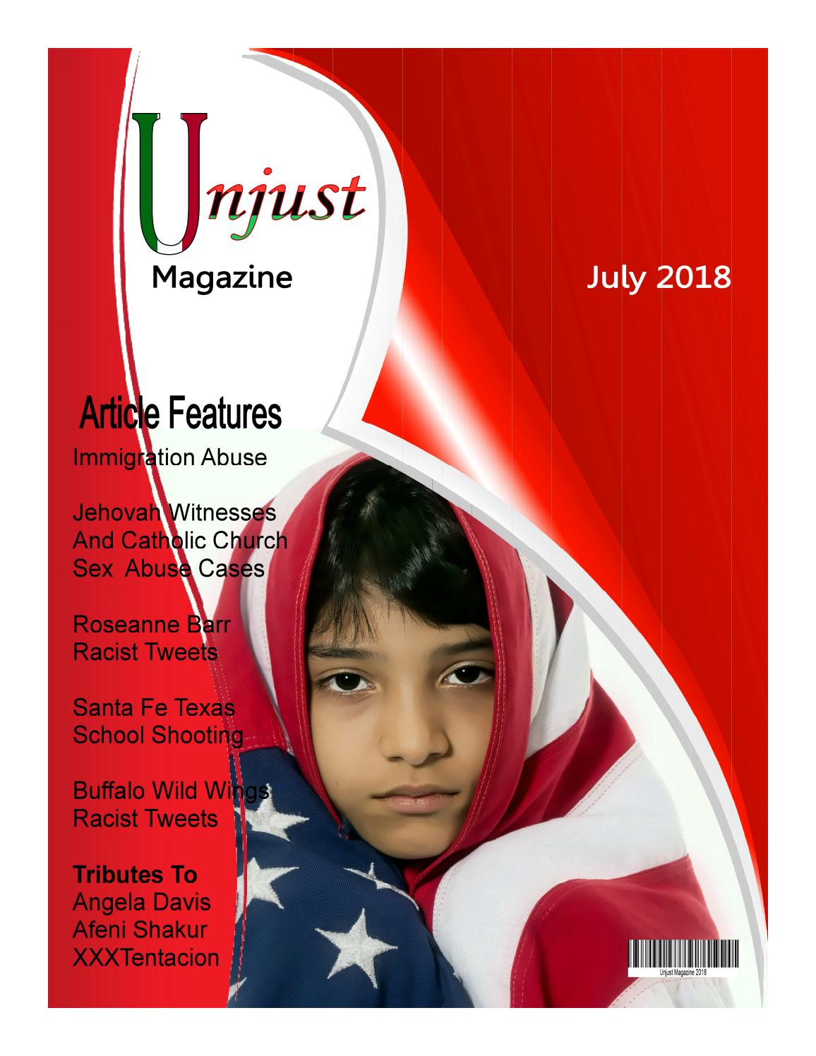 Unjust Magazine (Exposing Child Sex Abuse In The Church) by