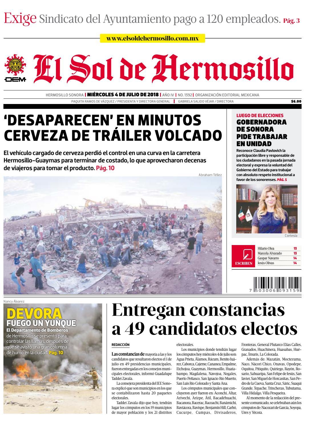 Edición impresa 4 de julio 2018 by El Sol de Hermosillo - issuu 906050b3ec8