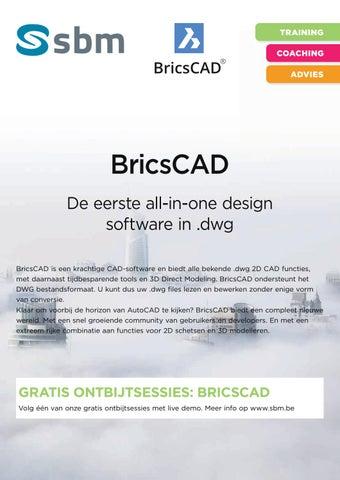 SBM Bricscad najaar 2018 by groepsyntrawest - issuu