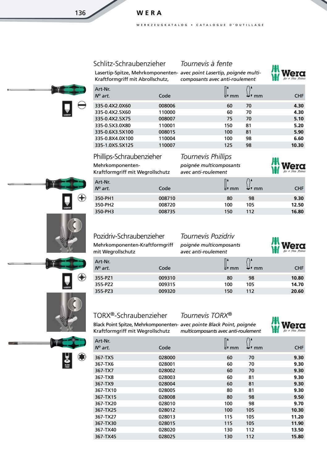Wera vde-isolés tournevis 165 I pz 2 x 100 mm 006164