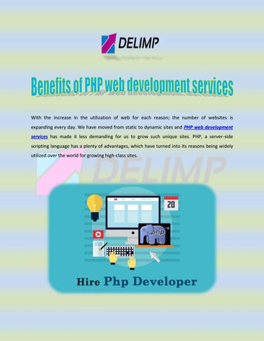 Benefits of PHP web development services by Delimp IT Services - issuu