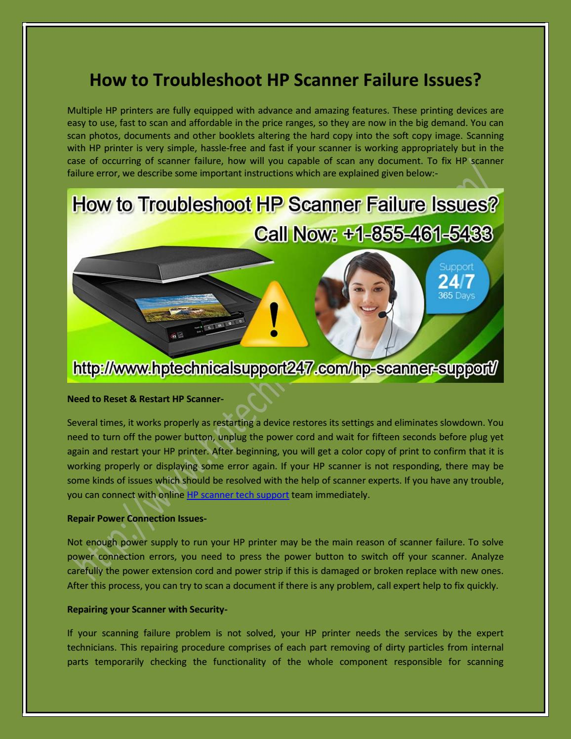 How to Troubleshoot HP Scanner Failure Issues? by HP Technical