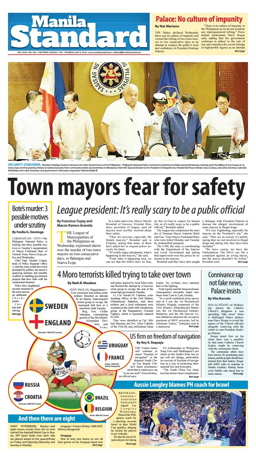 the latest 27d0d 540bb Manila Standard - 2018 July 5 - Thursday by Manila Standard - issuu