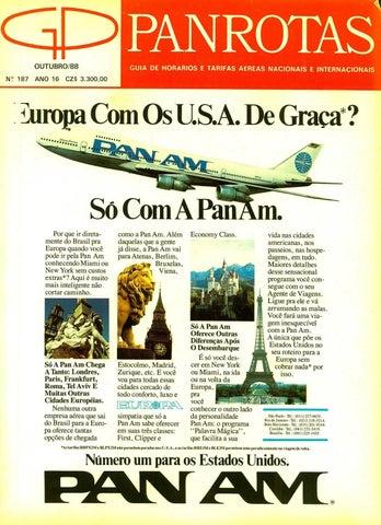 5c60fca15 Guia PANROTAS - Edição 181 - Abril/1988 by PANROTAS Editora - issuu