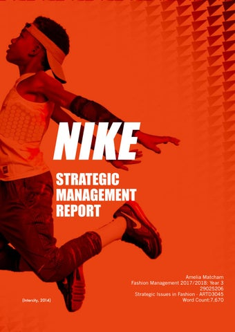 Portero Sui reputación  Nike Strategic Management Report by ameliarose - issuu