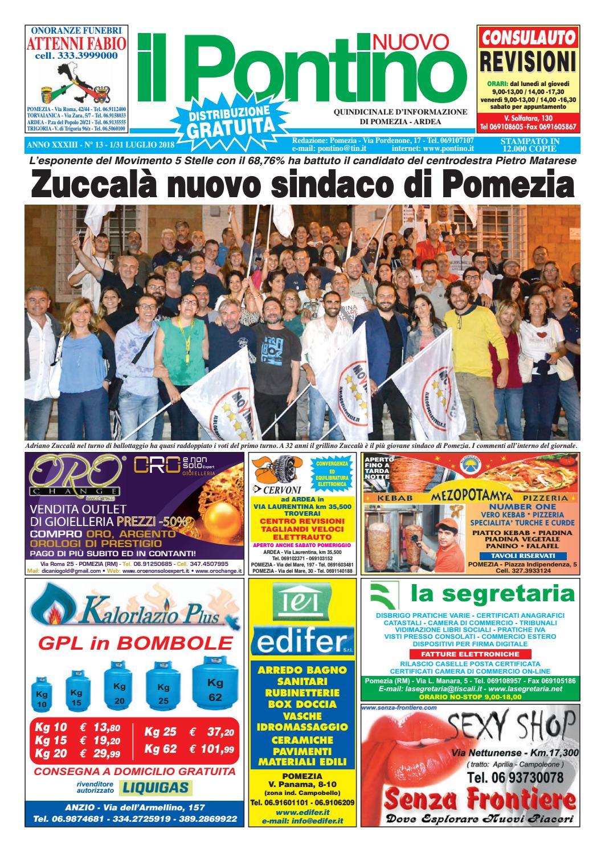 Il Pontino Nuovo - ANNO XXXIII - N. 13 - 1 31 Luglio 2018 by Il Pontino Il  Litorale - issuu 1b1c42940e9