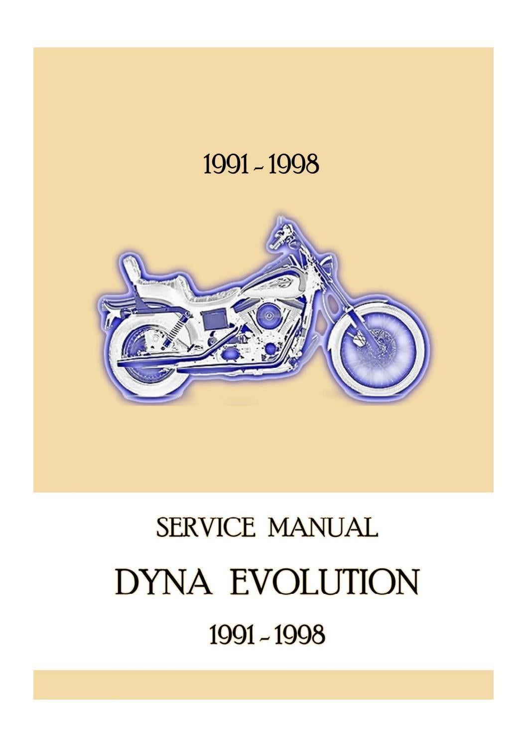 1997 Harley Davidson Dyna Glide Service Repair Manual by ...