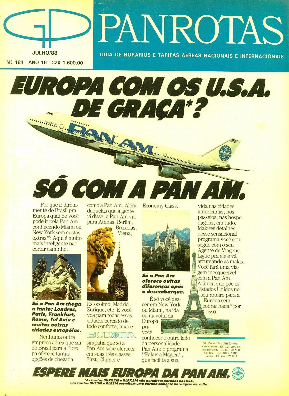 0d6df1db8 Guia PANROTAS - Edição 184 - Julho/1988 by PANROTAS Editora - issuu