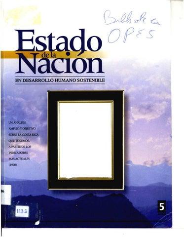 faebfac43e2 Informe Estado de la Nación 5 • 1999 by Programa Estado de la Nación ...