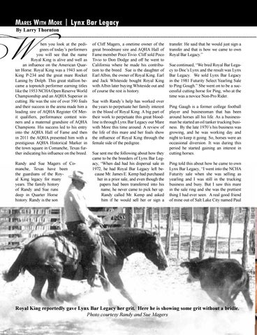 Page 36 of Mares With More   Lynx Bar Legacy