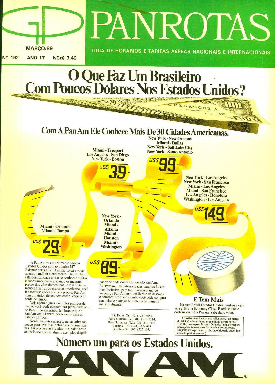 7c005c45082 Guia PANROTAS - Edição 192 - Março 1989 by PANROTAS Editora - issuu