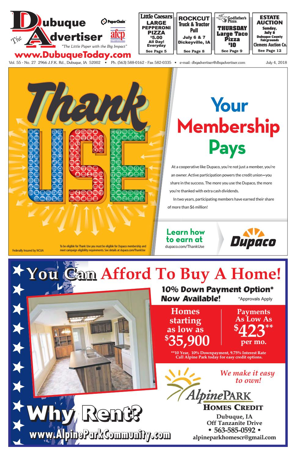 The Dubuque Advertiser July 4 2018 By Issuu Home Gt Appliances Rv Appliance Circuit Boards