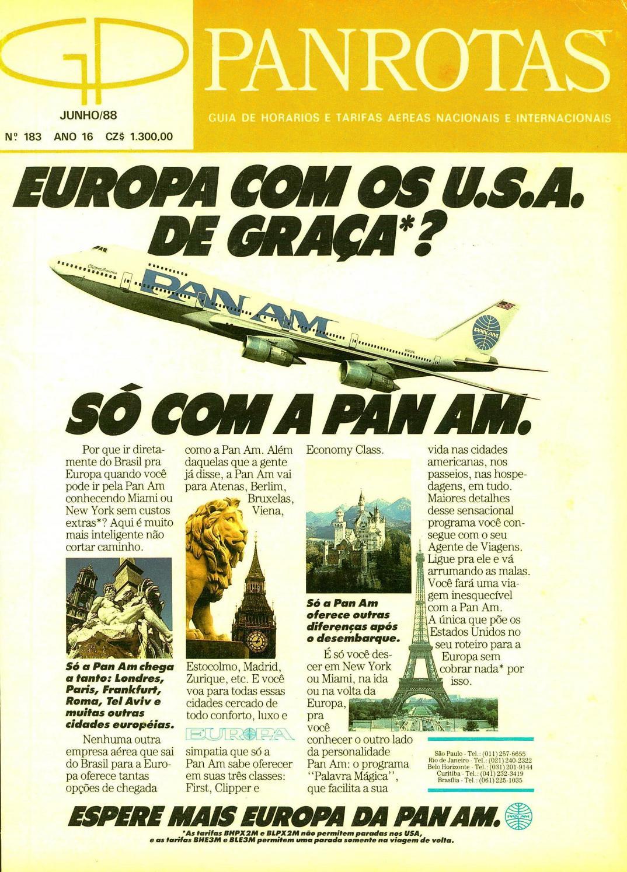 1a225646074 Guia PANROTAS - Edição 183 - Junho 1988 by PANROTAS Editora - issuu