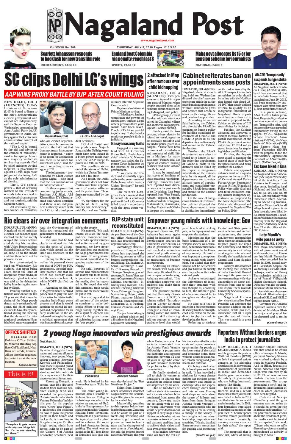 July 5, 2018 by Nagaland Post - issuu