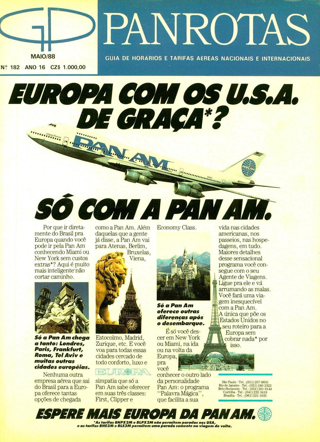 374cfcb21 Guia PANROTAS - Edição 182 - Maio/1988 by PANROTAS Editora - issuu