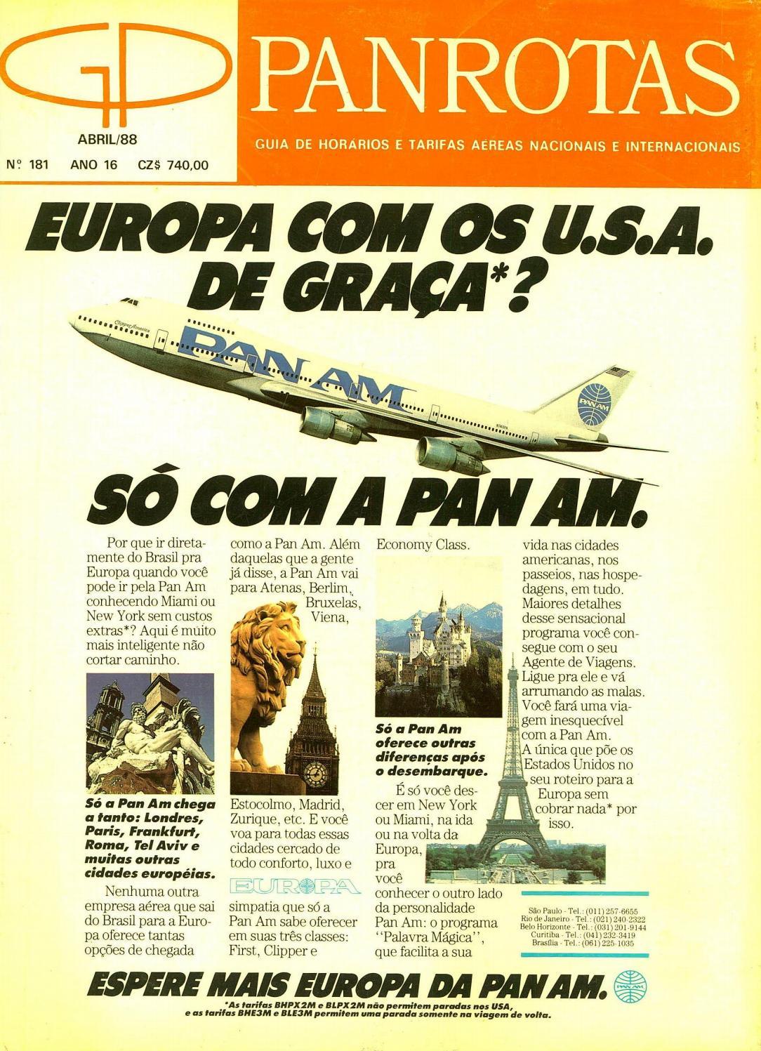 36875b52588 Guia PANROTAS - Edição 181 - Abril 1988 by PANROTAS Editora - issuu