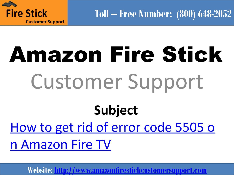 AMAZON ERROR CODE 5505