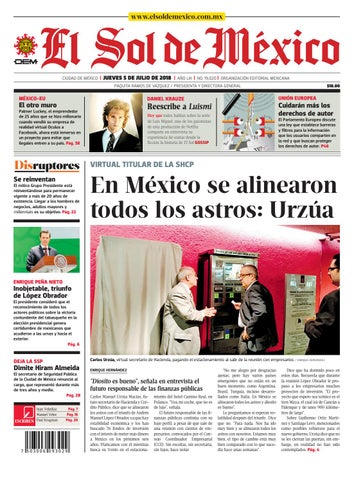 f003299b970da El Sol de México 5 de julio 2018 by El Sol de México - issuu