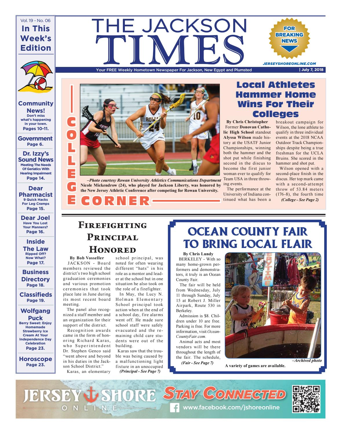 e7710a1bd0ab 2018-07-07 - The Jackson Times by Micromedia Publications/Jersey Shore  Online - issuu