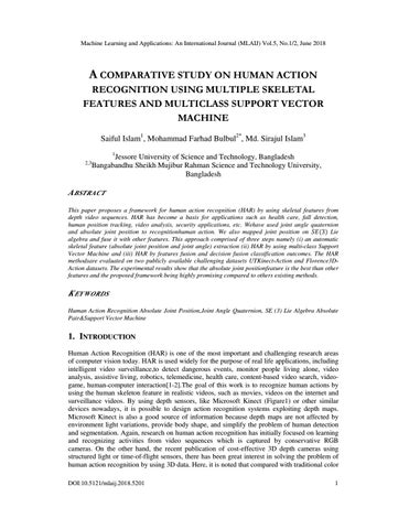 A Comparative Study on Human Action Recognition Using Multiple