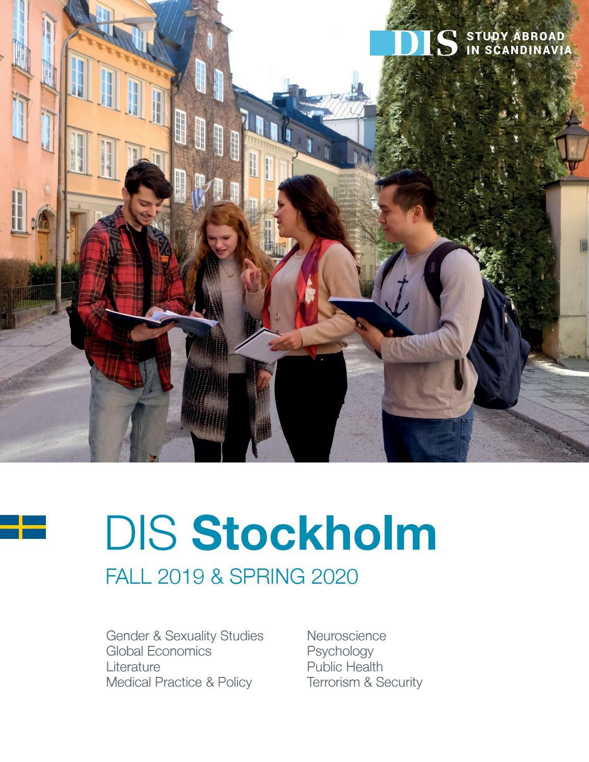Cuny Academic Calendar Spring 2020.Dis Stockholm Semester Catalog Fall 2019 Spring 2020 By Dis