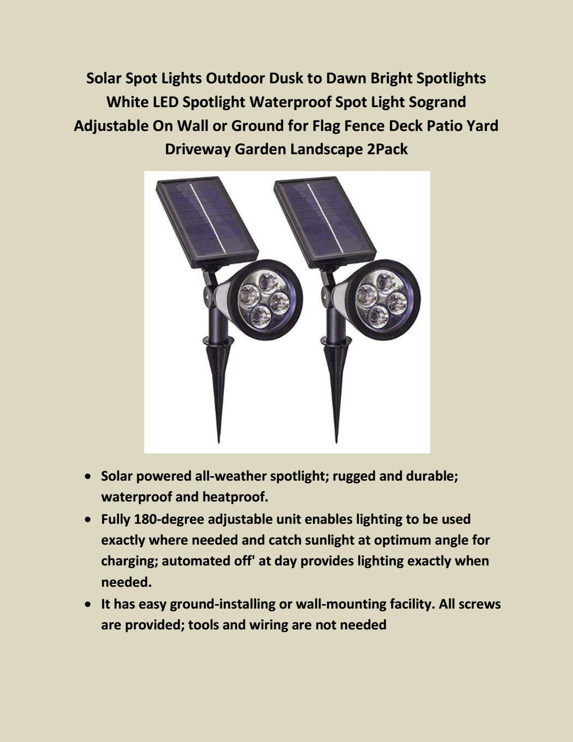 Prime Day Deals 2018 Solar Wall Lights Outdoor Bright Led Waterproof Wiring Outside Landscape By Federy Shory Issuu