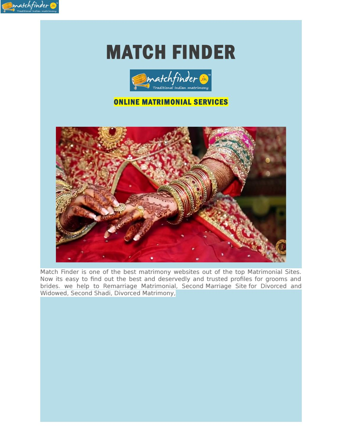 Online Marriage By Matchfinder Online Services Pvt Ltd Issuu
