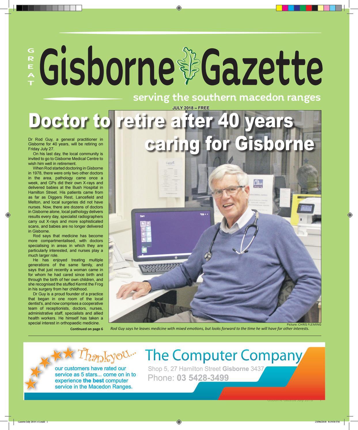 Gisborne Gazette July 2018 By Gisborne Gazette Issuu