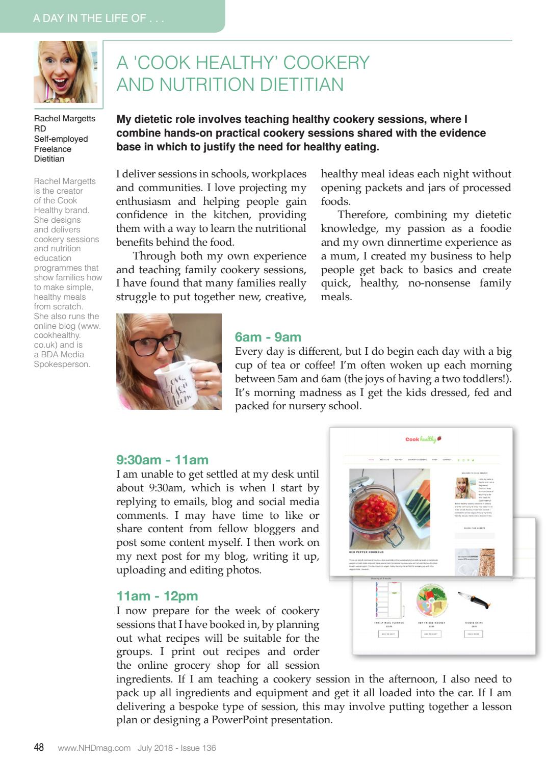 Issue 136 a cook healthy cookery and nutrition dietitian by