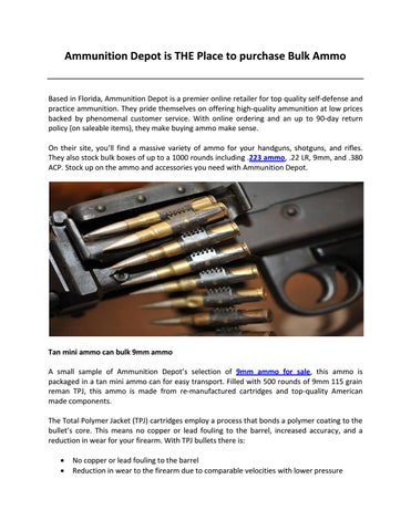 Ammunition depot is the place to purchase bulk ammo by