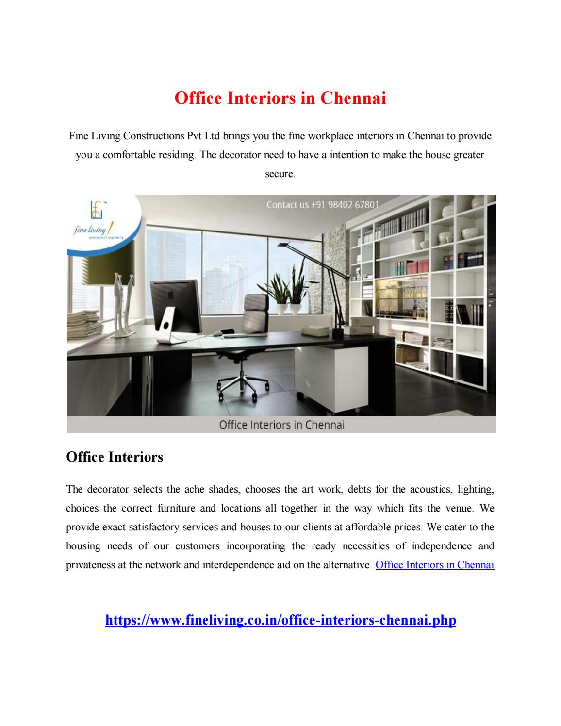 Office Interiors in Chennai by devashree5 - issuu
