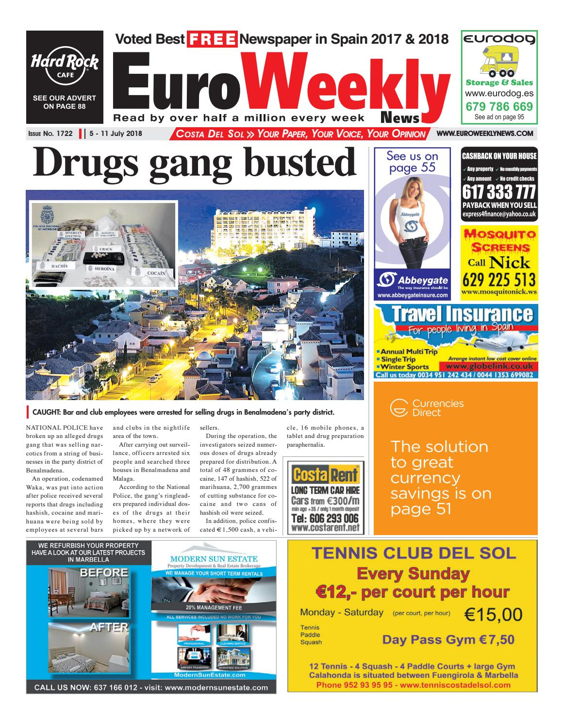 Euro Weekly News - Costa del Sol 5 - 11 July 2018 Issue 1722 by Euro Weekly News Media S.A. - issuu