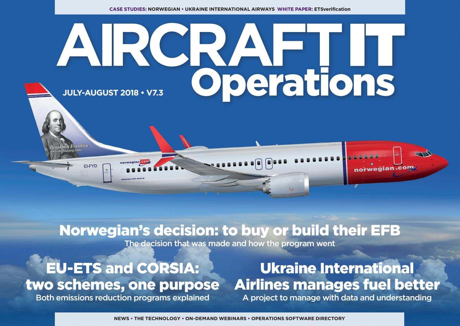 Aircraft IT Operations V7 3, July-August 2018 by aircraftit