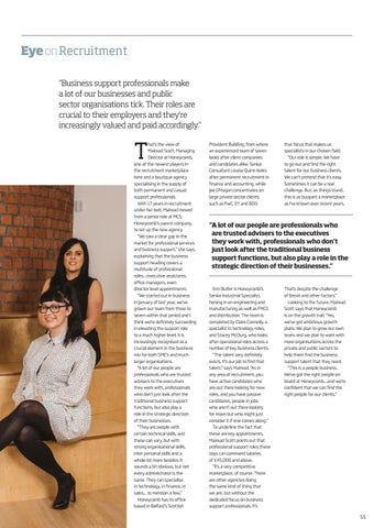 Page 55 of Honeycomb... Boutique Agency Raises the Bar for Support Professionals