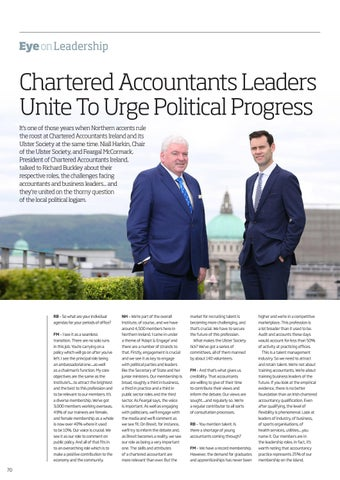Page 70 of Chartered Accountants Leaders Unite to Urge Political Progress
