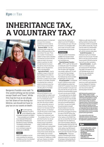 Page 72 of Inheritance Tax, a Voluntary Tax?