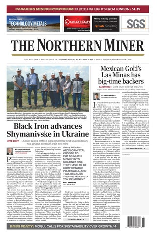 165 Niocorp Appoints Mr Mark A Smith  >> The Northern Miner July 9 2018 Issue By The Northern Miner