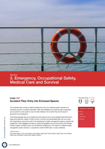 Page 46 of Emergency, Occupational Safety, Medical Care and Survival
