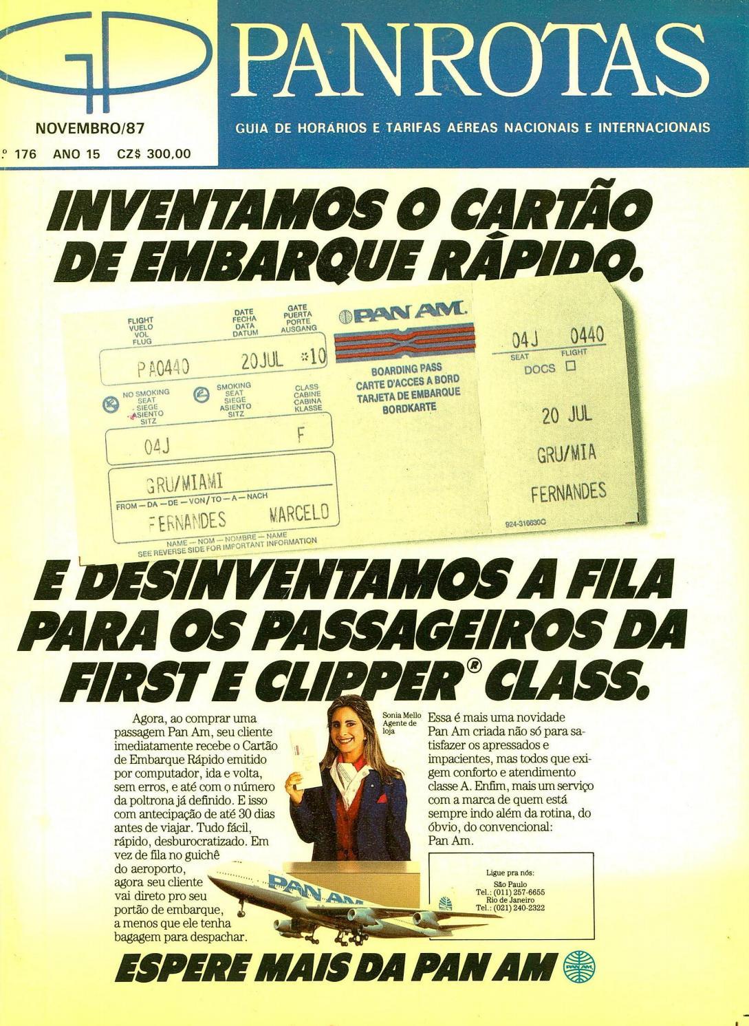 e8abe8fa92 Guia PANROTAS - Edição 176 - Novembro 1987 by PANROTAS Editora - issuu