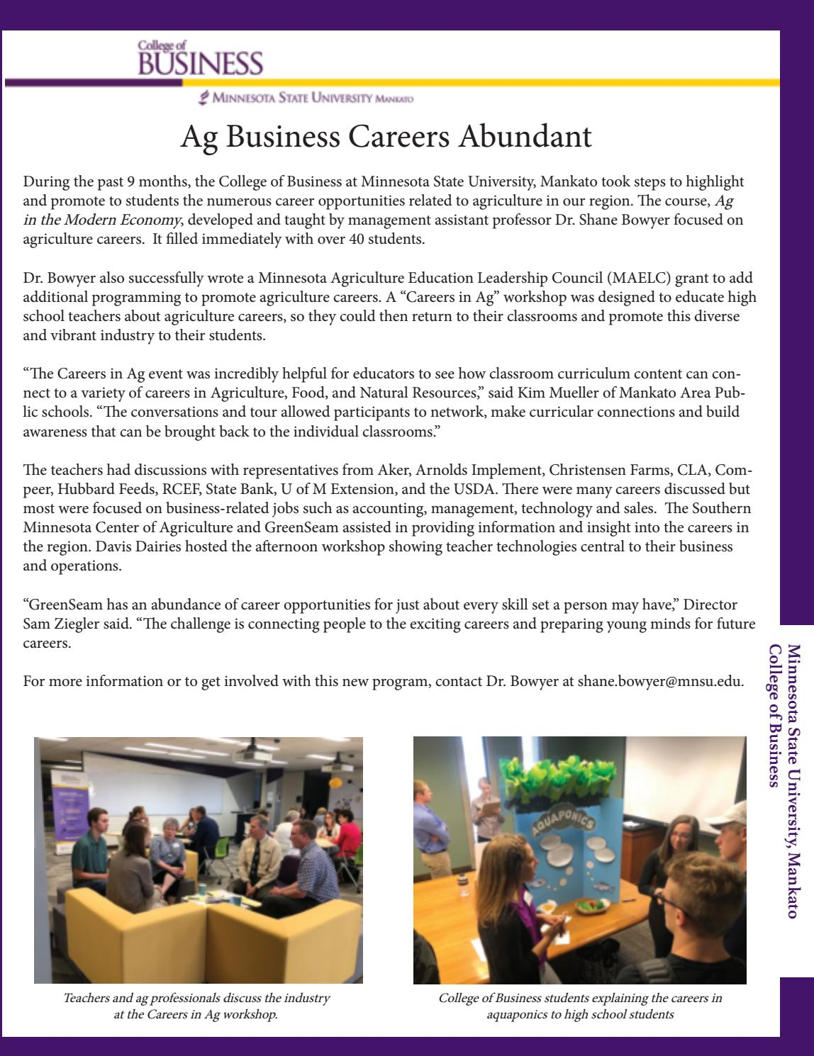 MN Valley Business Magazine July 2018 by Free Press Media