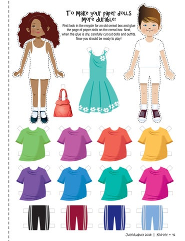 Kid oh 7 18 by free press media issuu to make your paper dolls more durable first look in the recycle for an old cereal box and glue the page of paper dolls on the cereal box ccuart Choice Image