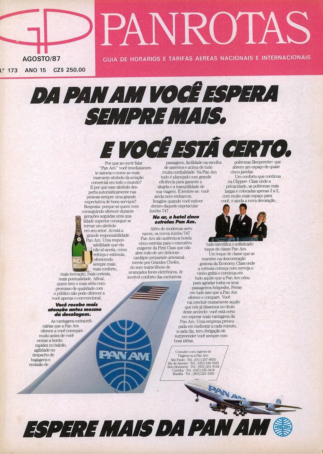 c2e01a90cbd Guia PANROTAS - Edição 173 - Agosto 1987 by PANROTAS Editora - issuu