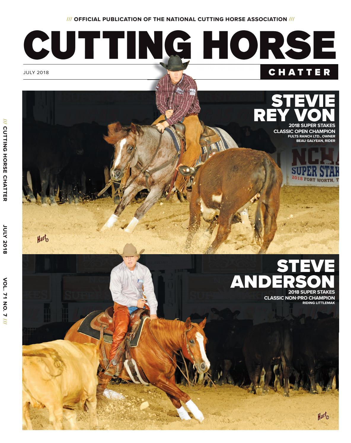 50ac70da71845 Cutting Horse Chatter July 2018 by Cowboy Publishing Group - issuu