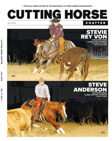 Cutting Horse Chatter July 2018 by Cowboy Publishing Group
