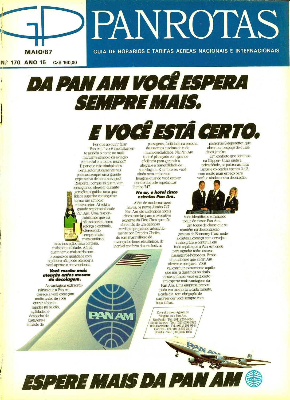 e66065aeb8 Guia PANROTAS - Edição 170 - Maio 1987 by PANROTAS Editora - issuu