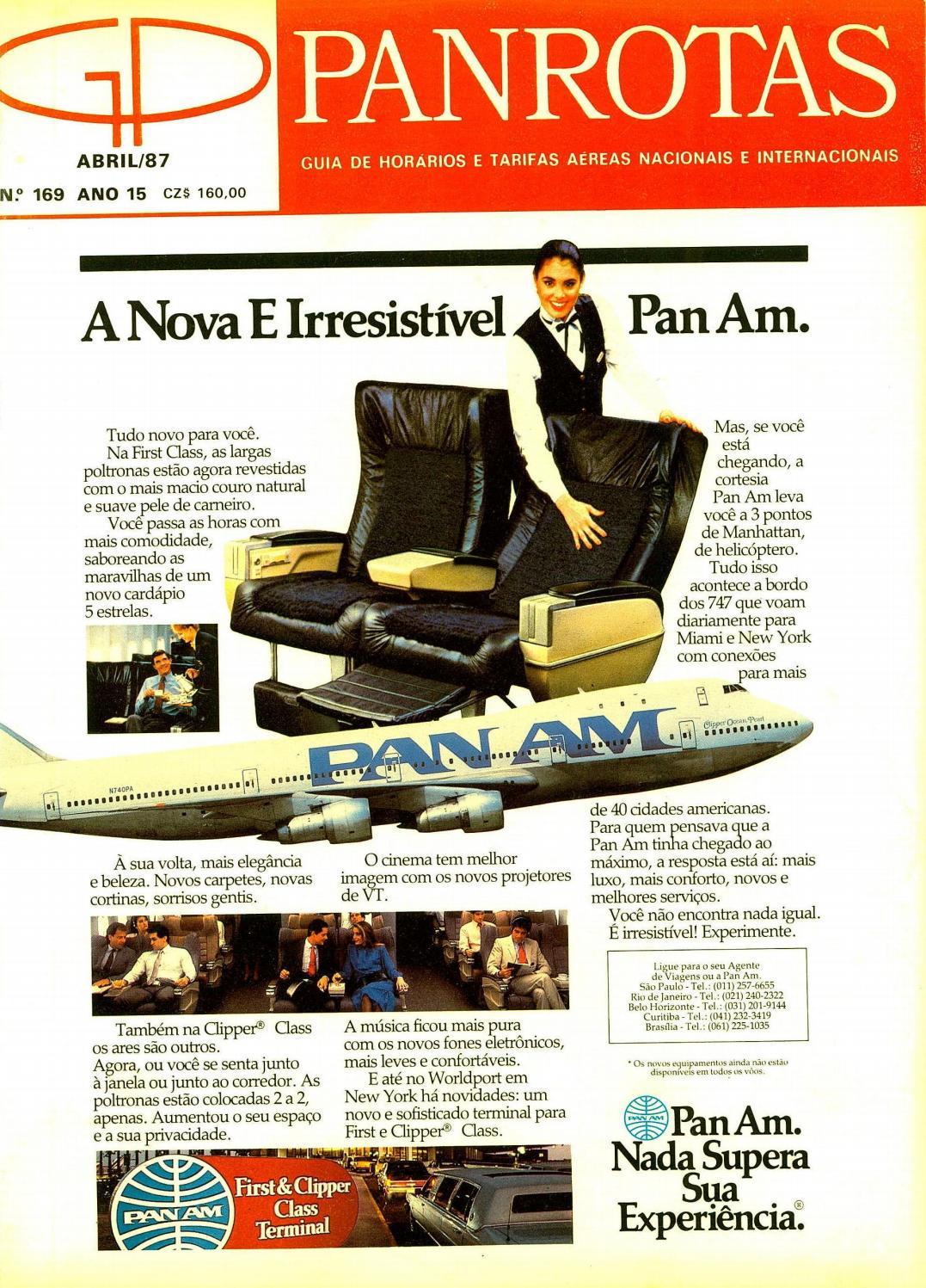 f1b6813e8d71c Guia PANROTAS - Edição 169 - Abril 1987 by PANROTAS Editora - issuu